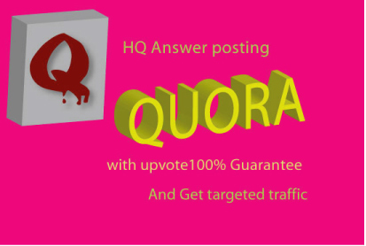 Get the some organic traffic with High quality answer post