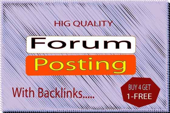 I will post 20 high quality forum posting on your forum