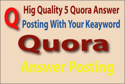 I will do High quality answer 30 with some organic traffic