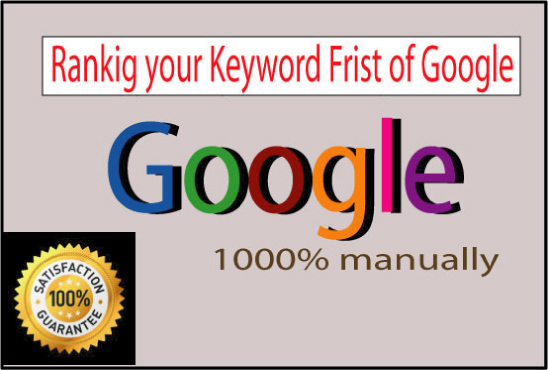 I will Create google top ten ranking and optimization by full SEO work