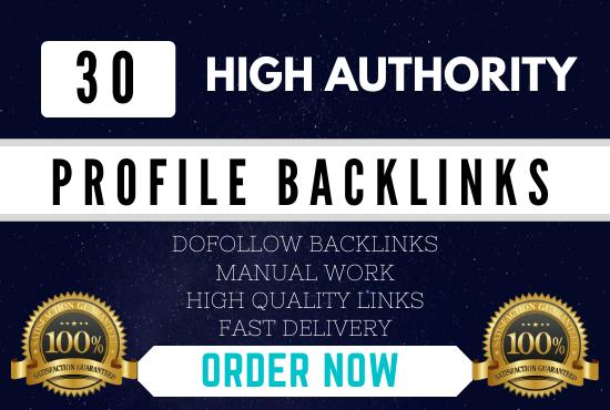 Manually Create 30 pr9 da 90 High Authority Do-follow Profile Backlinks Seo Service Optimization