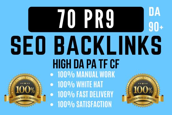 Manually Create 70 pr9 da 90 High Authority Do-follow Profile Backlinks Seo Service Optimization