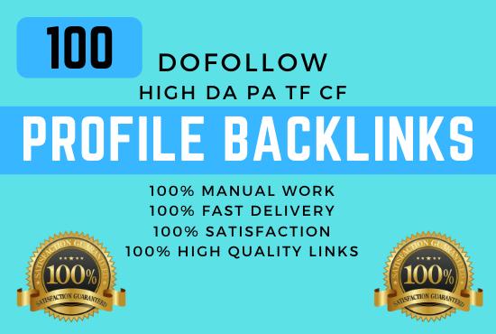 Create Manually 100 PR9 Dofollow Profile Backlinks Linkbuilding Seo Optimization Service