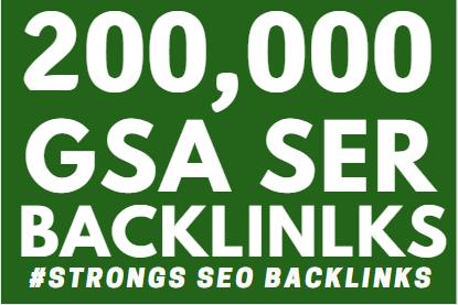 200k GSA Backlinks Ranking your websites