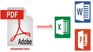 I will convert Professionally PDF to excel or word file