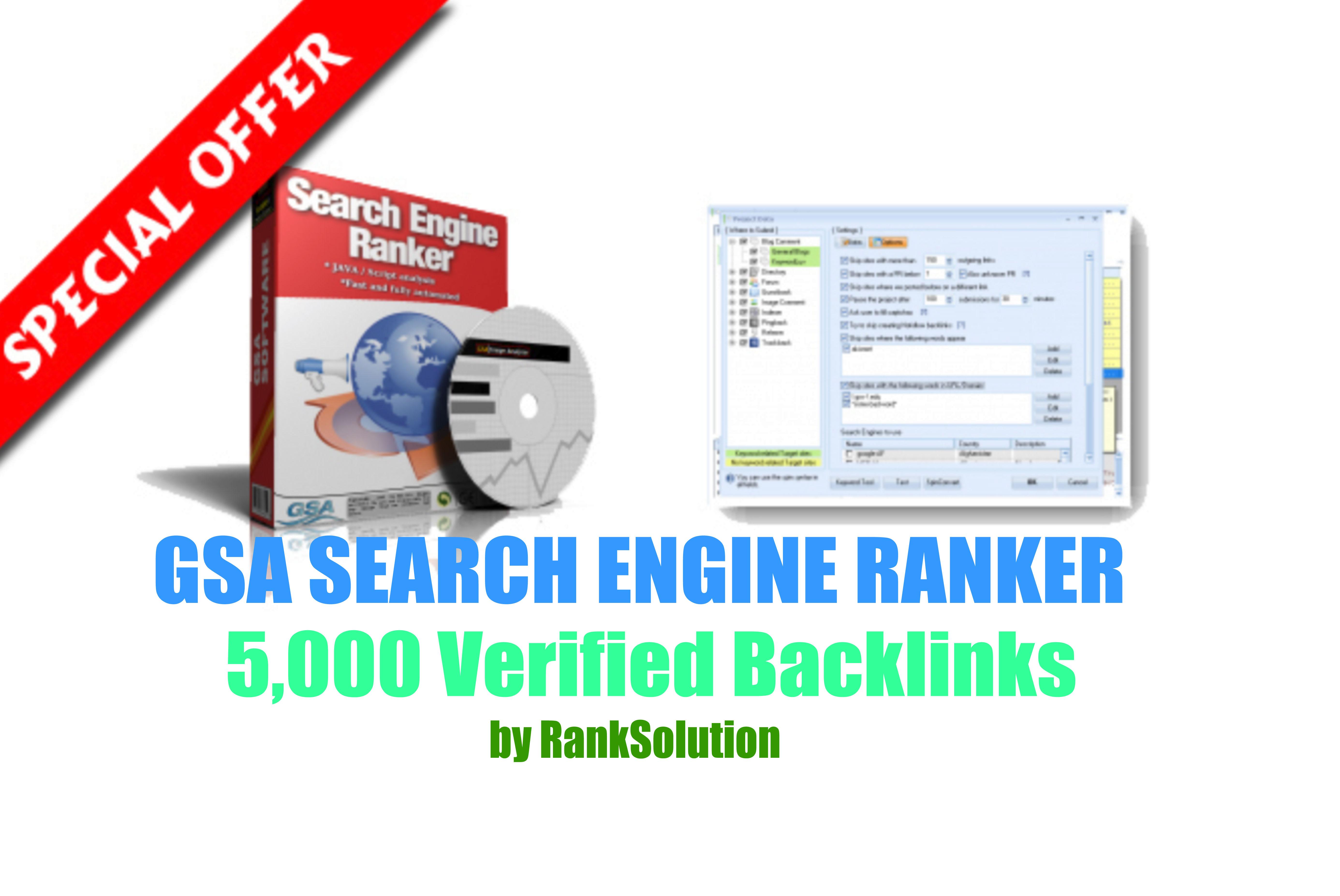 5,000 GSA SER Backlinks easy Link Juice & Faster Index