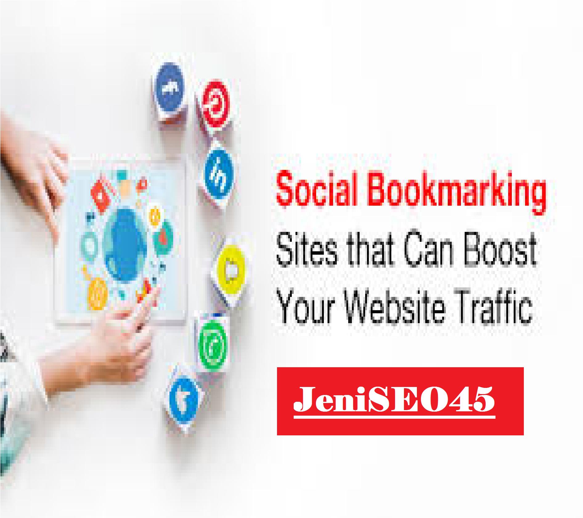 I will manually create 50 high quality bookmarks social SEO backlinks