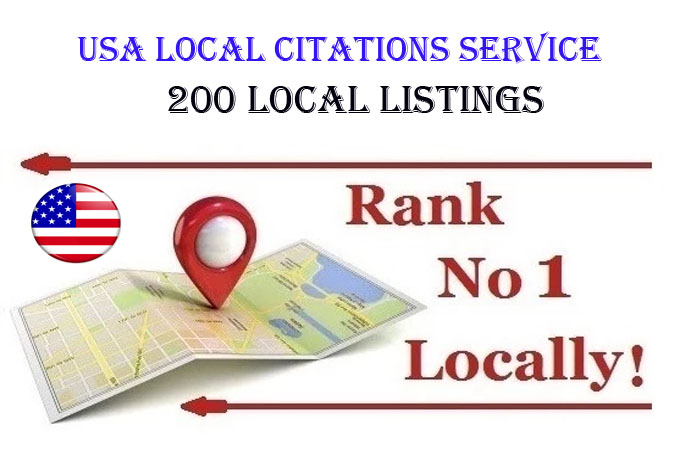 I will do 200 local listings with add geo tag image for USA local business ranking