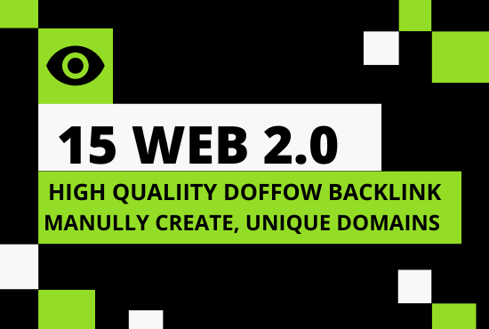 I will provide 15 organic web 2 0 backlinks