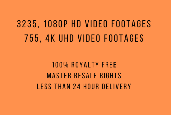 I will give 3990 MRR Stock Video Footages HD 4K in 39 Hot Categories