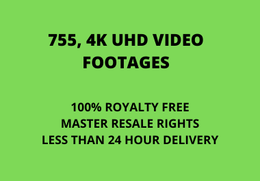I will give 755 MRR Stock Video Footages 4K UHD For Every Categories