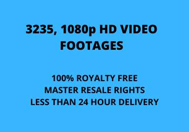 I will give 3235 MRR Stock Video Footages HD For Every Categories