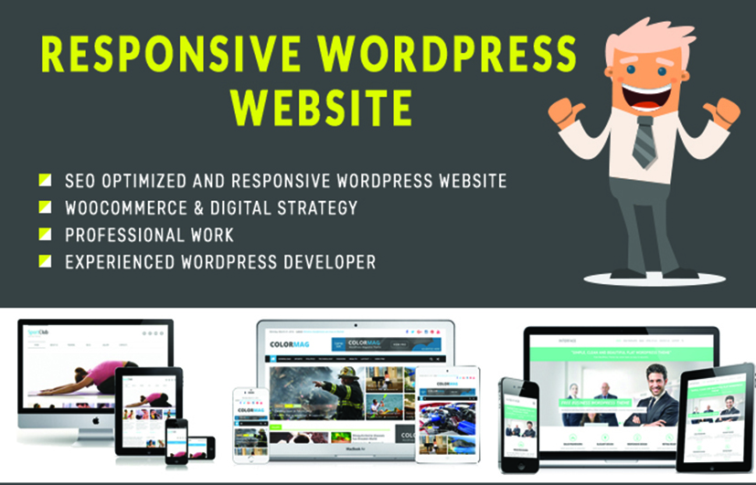 Design wordpress website for your company or business