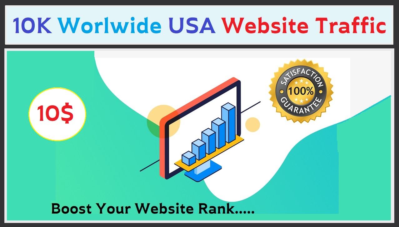 Provide 10,000 Worldwide USA Website Real Traffic