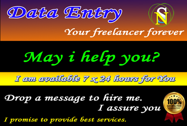 I will provide any types of Data Entry work.