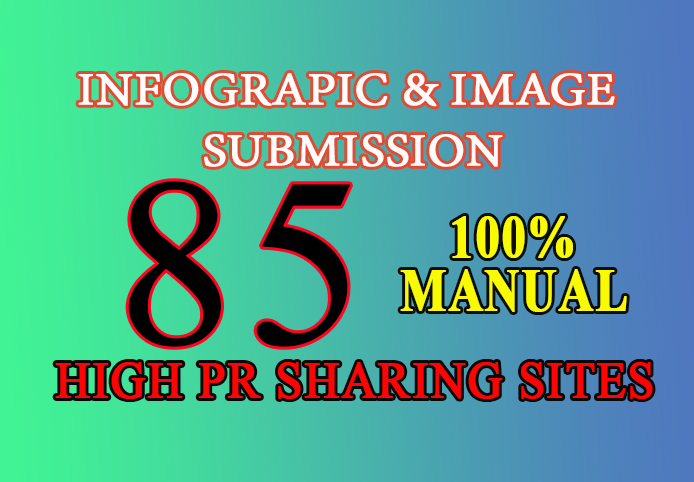 I will do infographic or image submission on high da sharing sites
