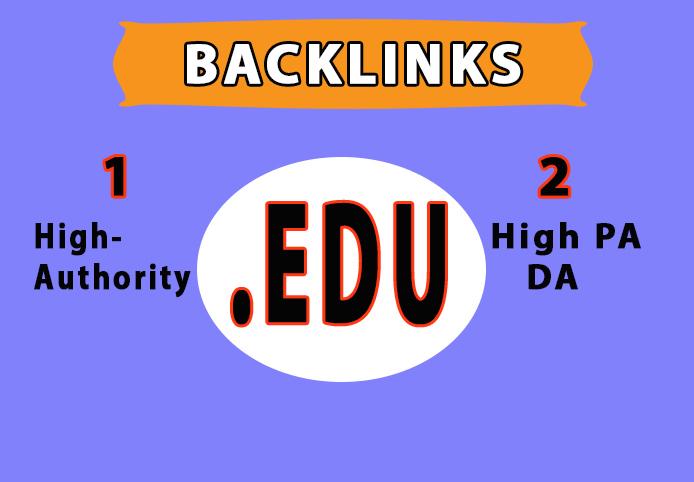 provide you 150. edu high authority backlinks
