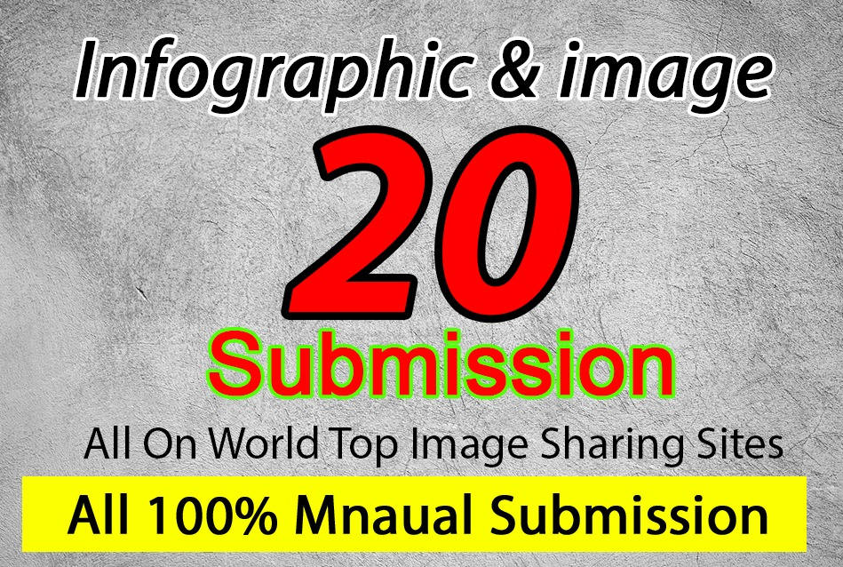 I will upload 20 images and infographic on image submission sites