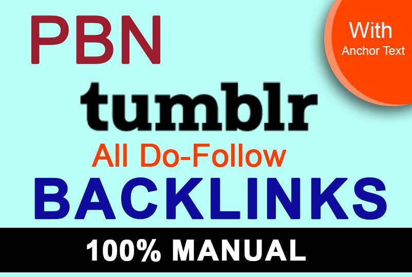 I will create 60 tumblr pbn permanent dofollow SEO backlinks