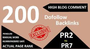 200 Manually Dofollow blog comments Backlinks Actual Page Rank Pr6 To Pr2