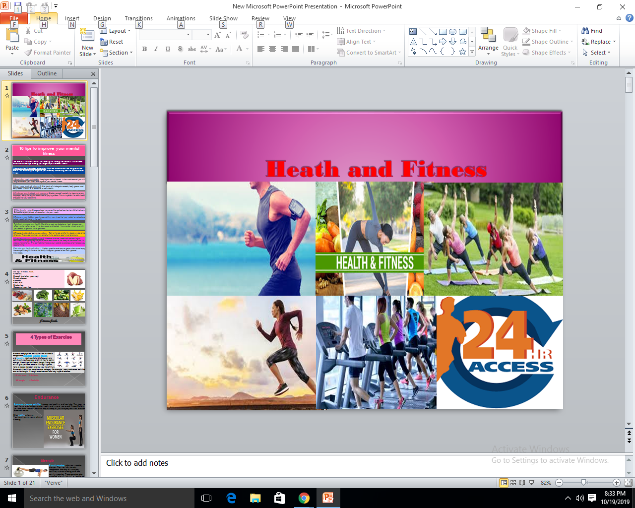 I will design a very professional powerpoint presentation