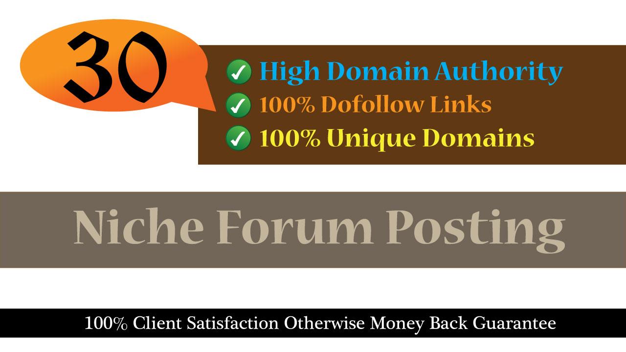 Build 30 Niche Dofollow Forum Backlinks
