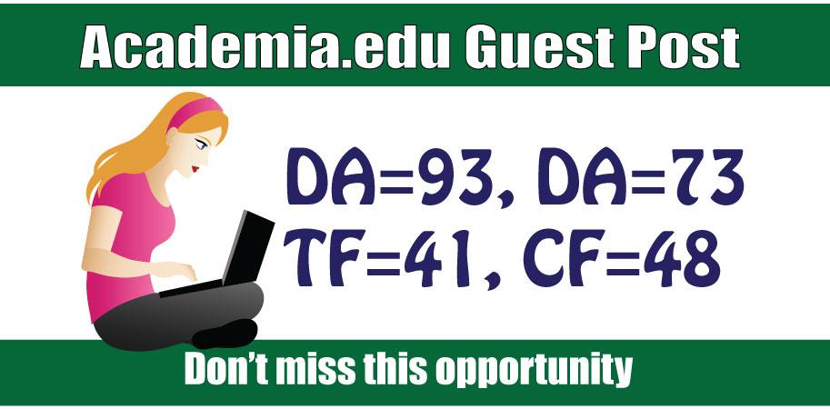 Write and Publish Edu Guest Post on Academia DA93,  DR91