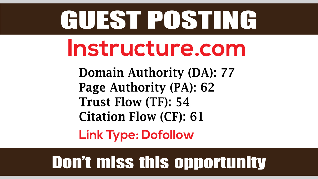 write and publish Guest Post on Instructure DA75 - DofoIIow Link