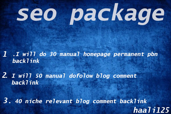 i will provide seo package order now.