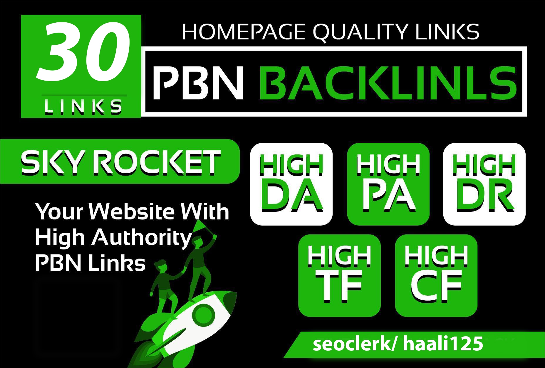 I will provide 30 manual homepage permanent pbn backlink with da pa tf cf and DR