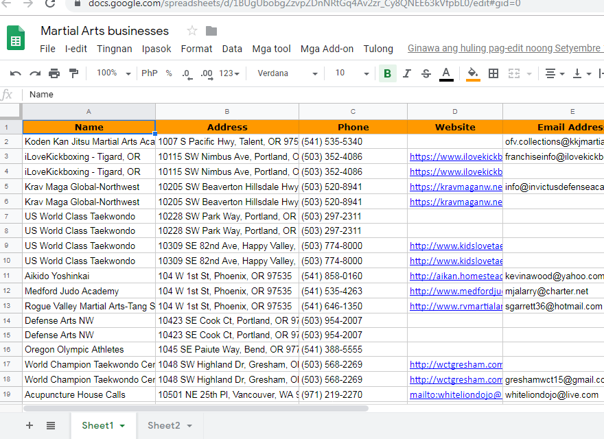 I will do contact list for your email marketing