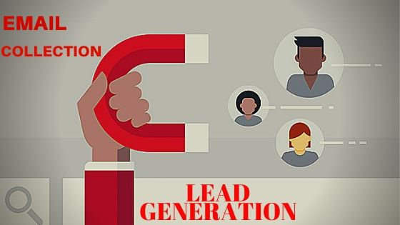 LEAD GENERATION. Collect your targeted E-mails for your Marketing Purposes.