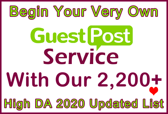 2,200 High DA/PA/CF Updated 2020 Free Guest Posts.