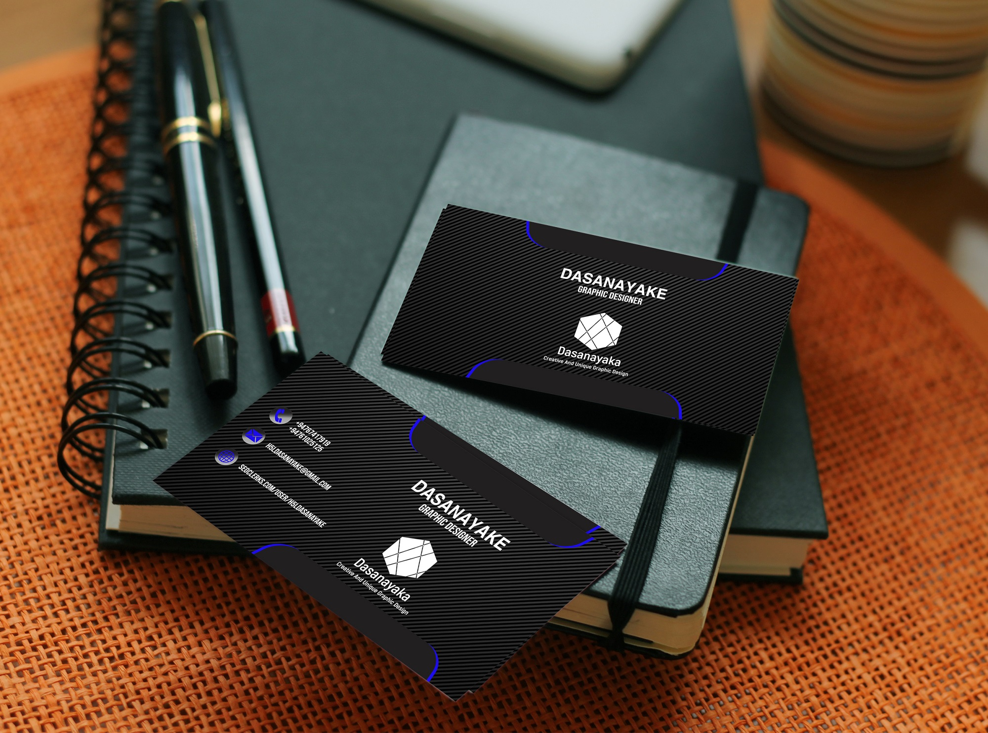 I will design professional double sided business card with logo design