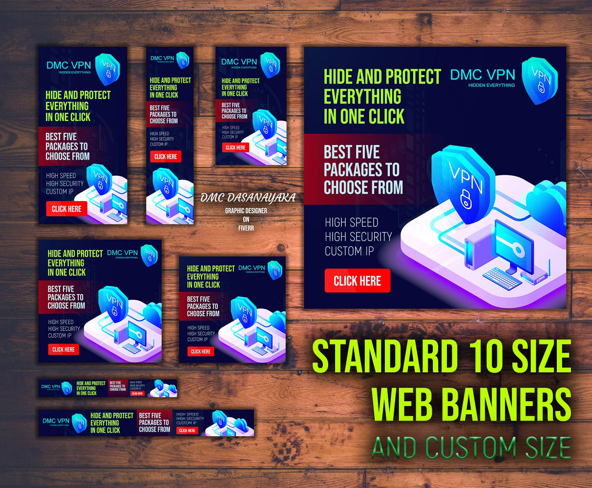 I will design creative and professional banner ads for youtube,  adsense,  google Ads,  adroll