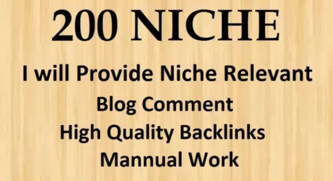 I will do create 200 niche blog comments nofollow backlinks