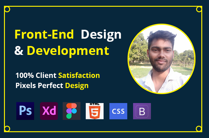 I will be front end design and will be front end development
