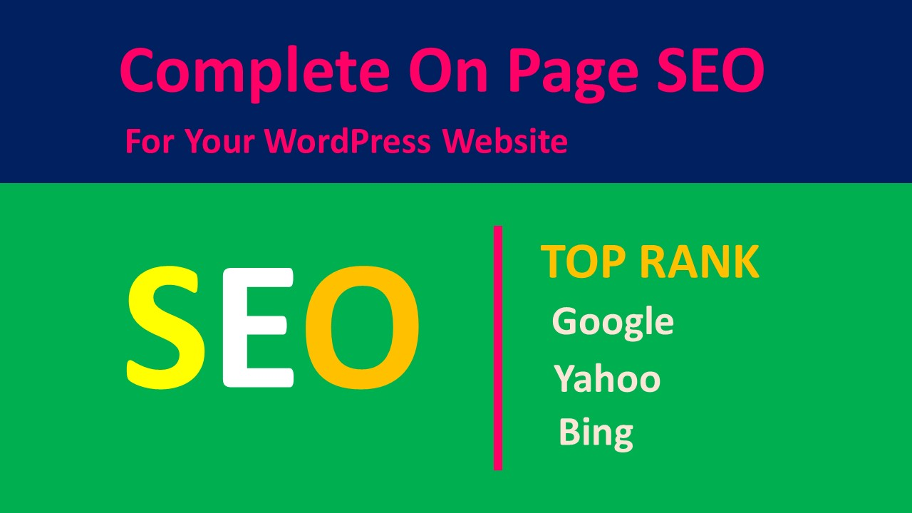 best onpage SEO for wordpress website