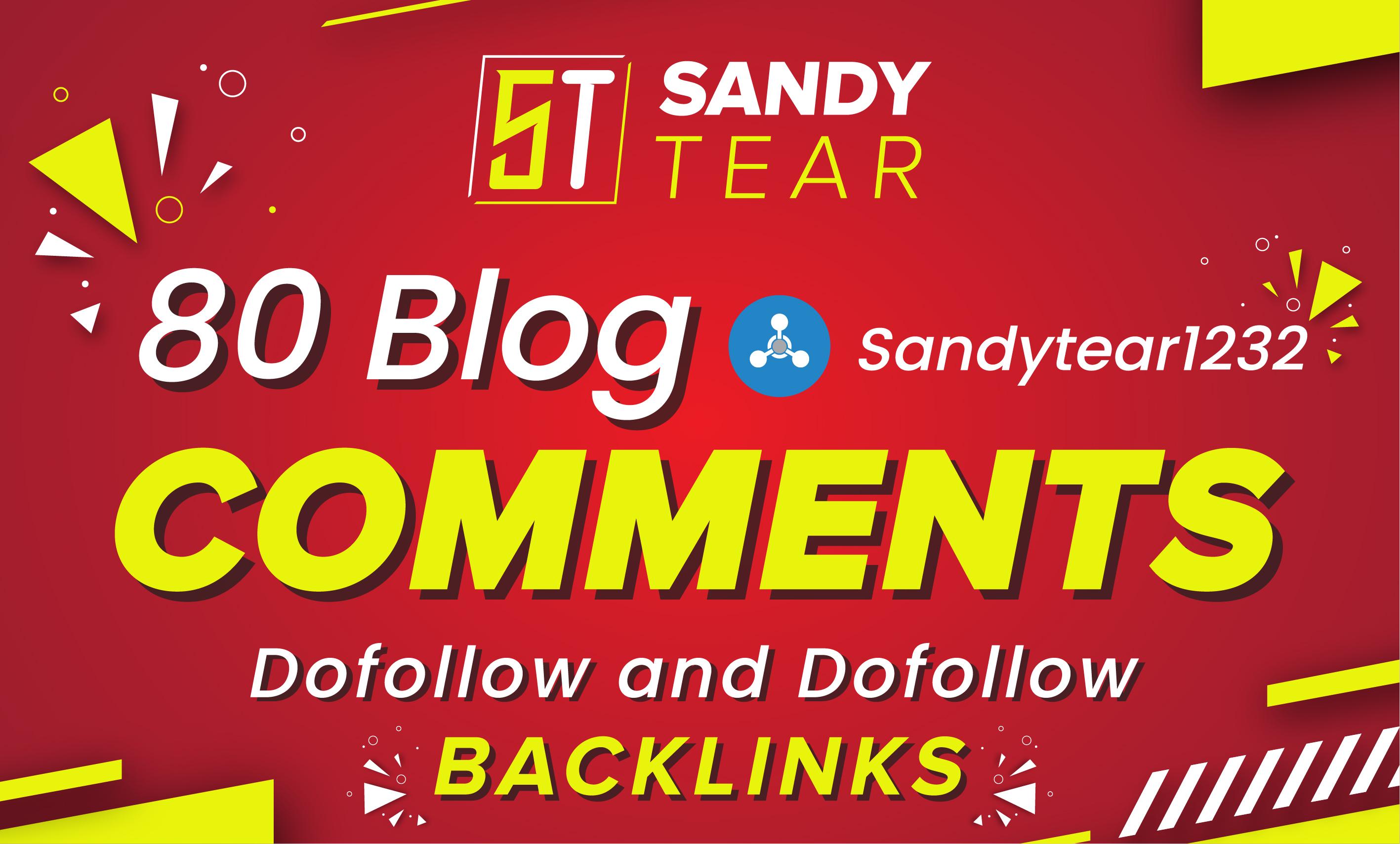 I will do 80 trust flow blog comments backlinks