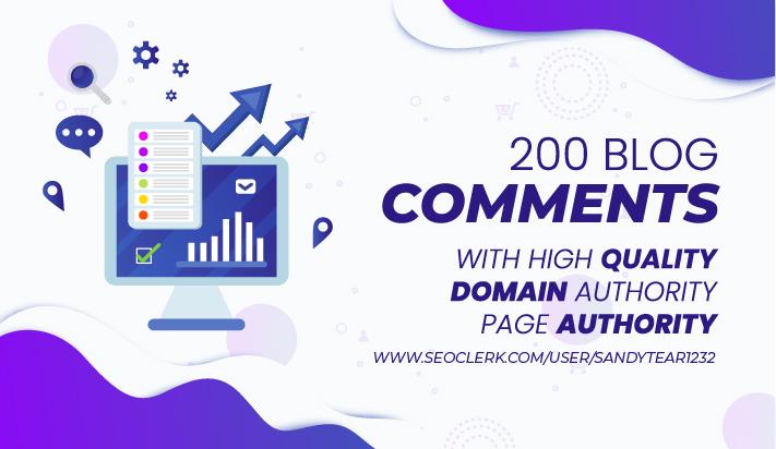 I will get 200 high da pa do follow backlinks using blog comments