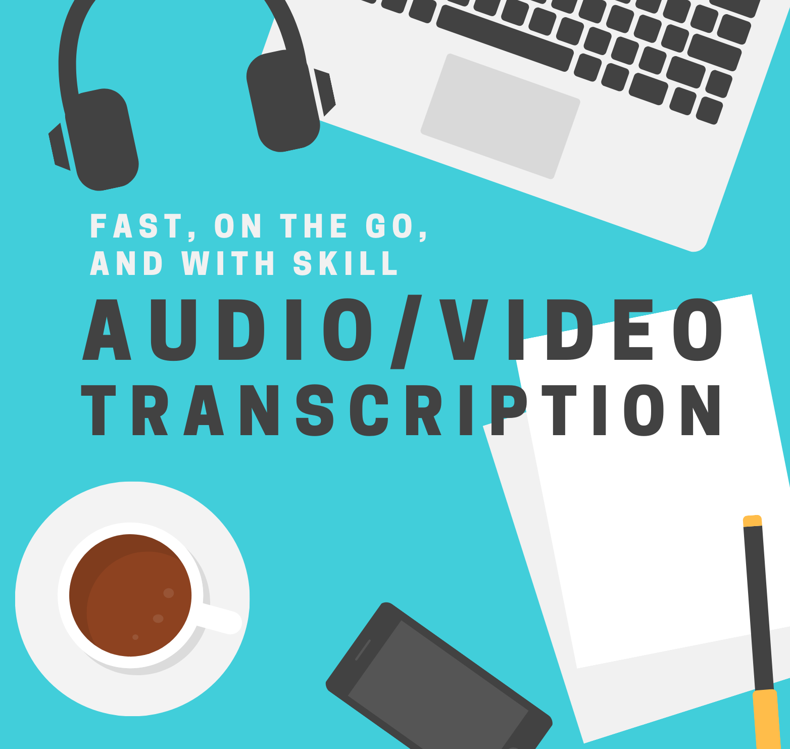 Transcription From Audio,  video to text or PDF To word excel