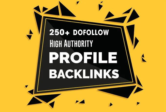 I will Create 250 High Quality Profile Backlinks