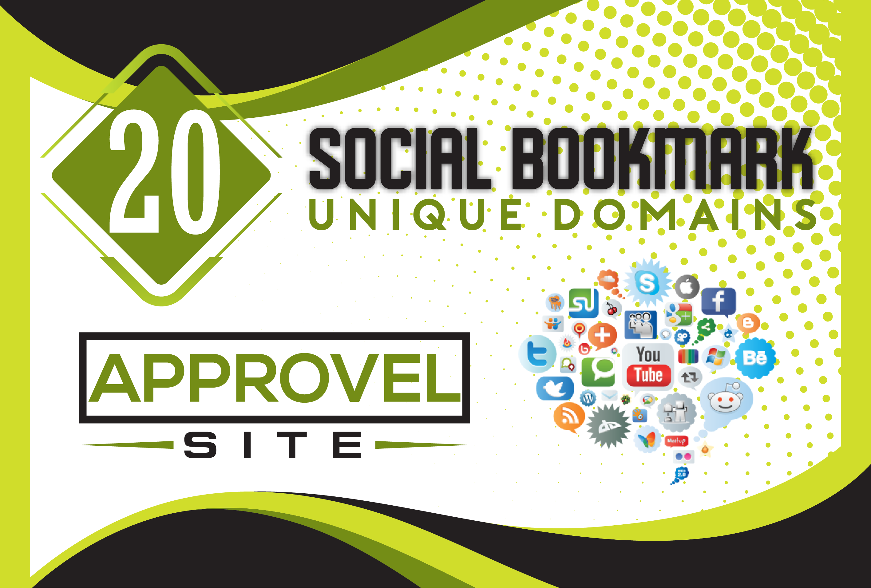 High Quality Social Bookmarking Backlinks for your Website.
