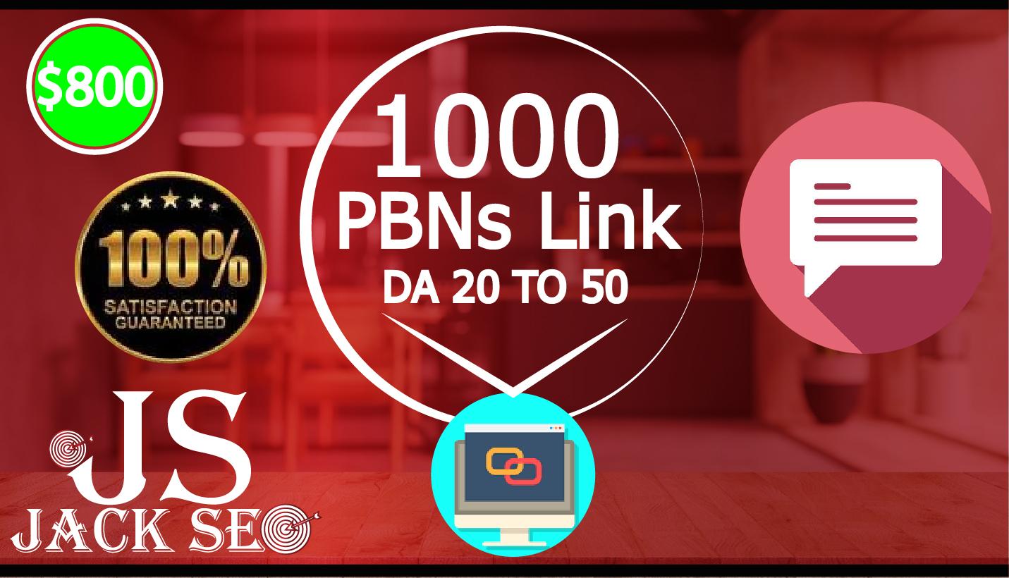 1000 PBN Link High da pa backlink