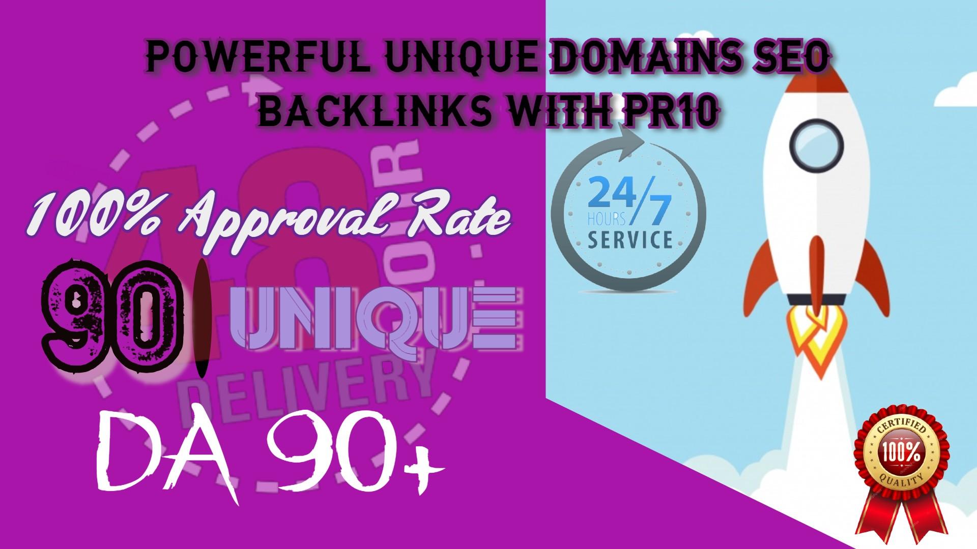 I WILL DO 90 UNIQUE PR10 SEO BackIinks on DA100 sites Plus Edu Links