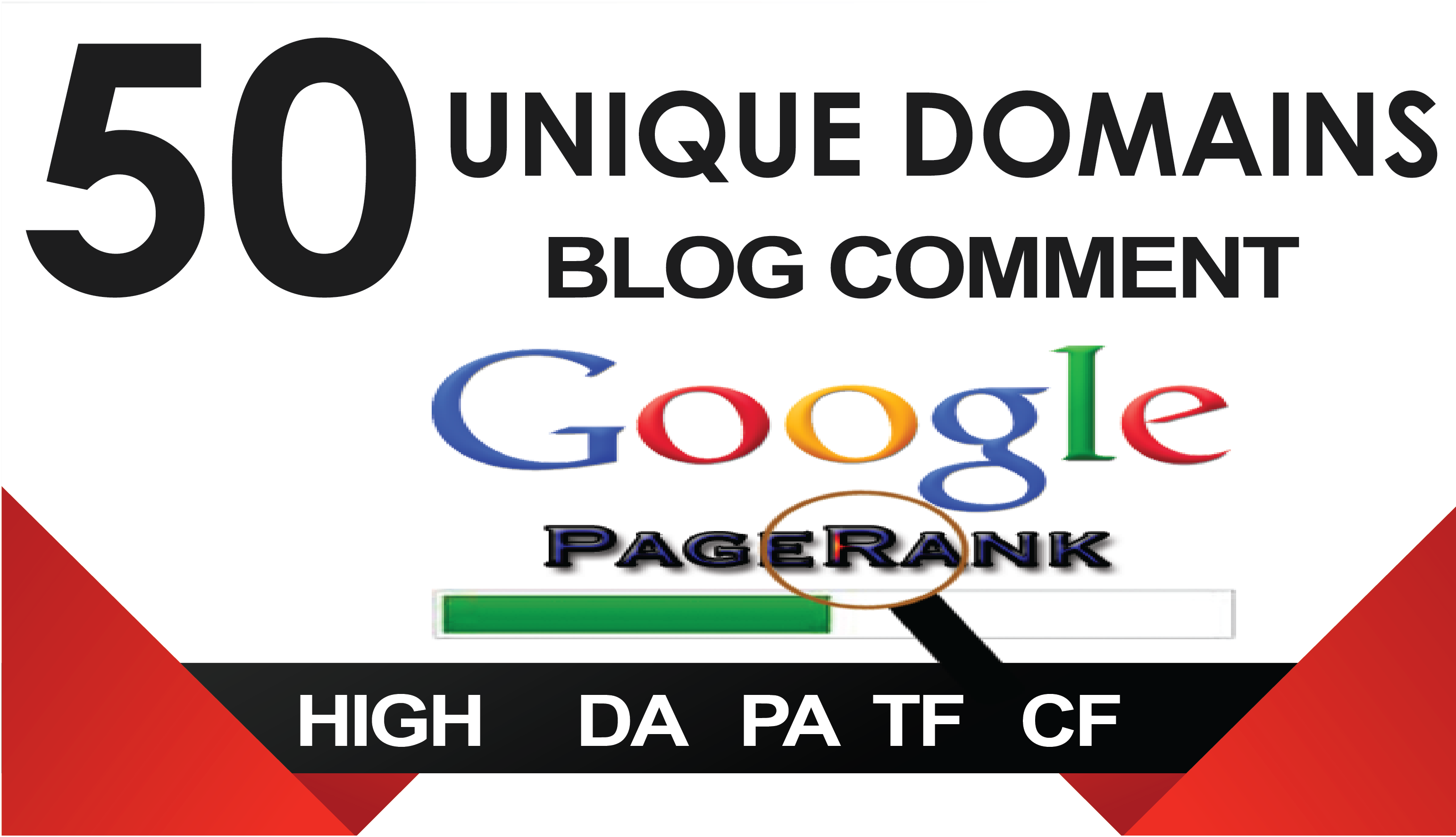 I will 50 unique domains blog comments backlinks High DA,PA,TF,CF