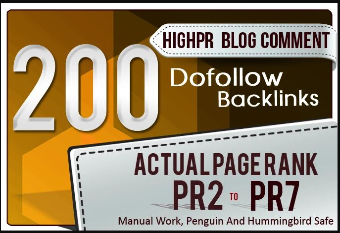 I will do 200 blog comments on actual page of high da pa backlinks manually