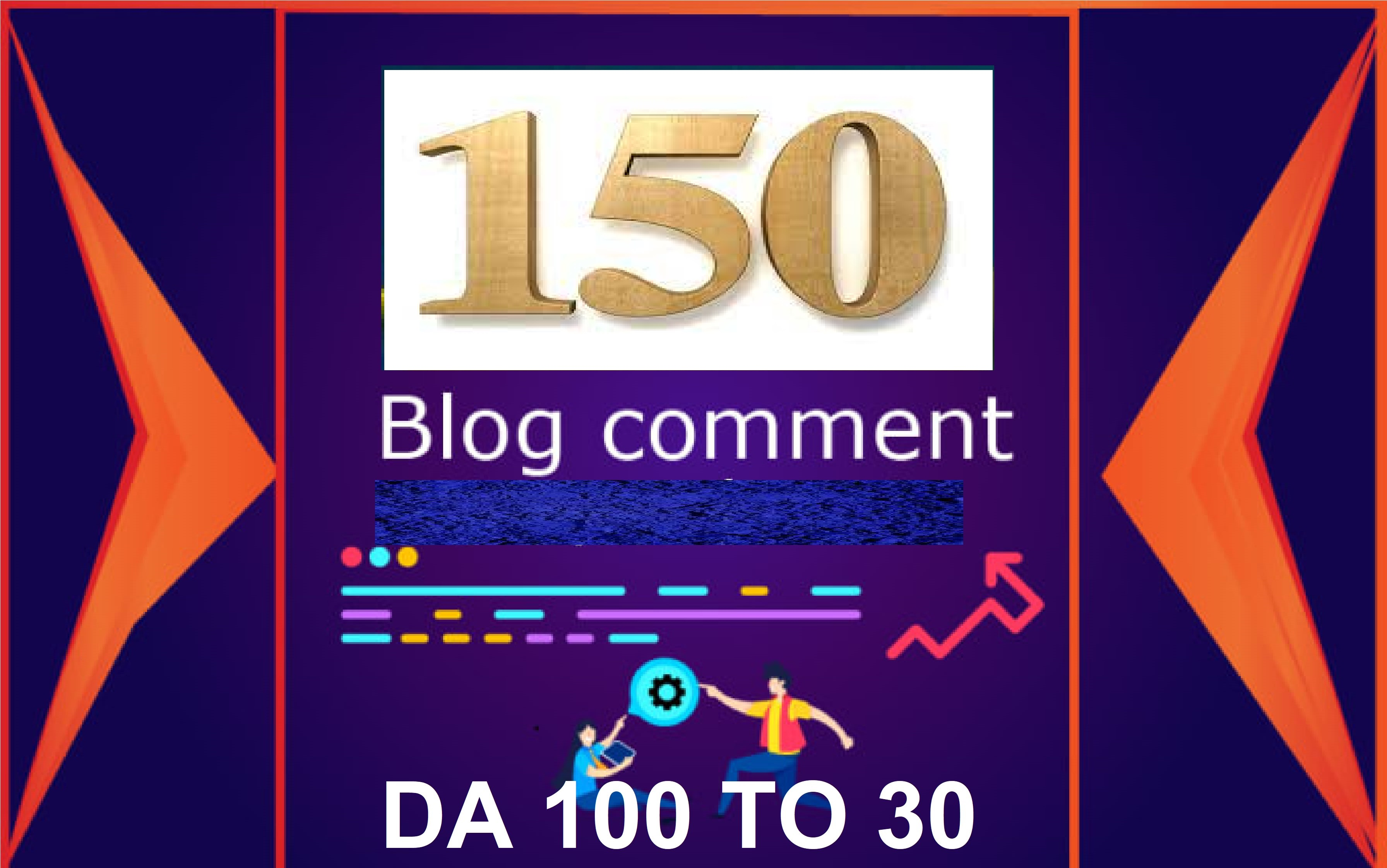 Give you 150 blog comments backlinks high da pa