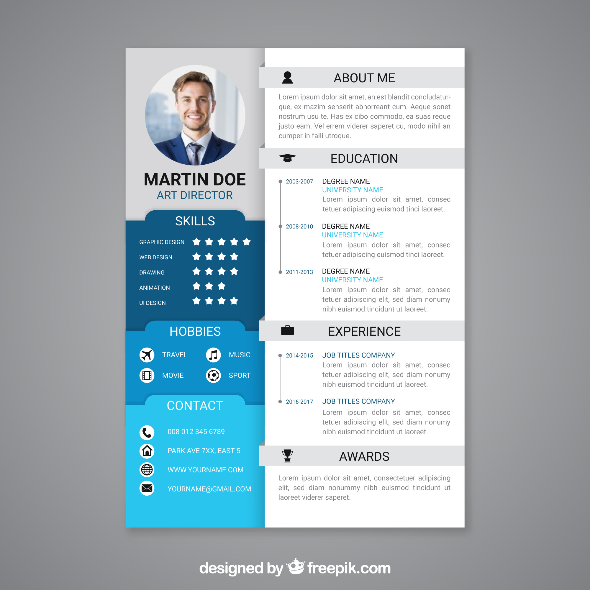 A modern and stylish Cover Letter and Resume