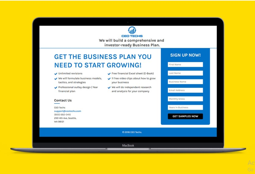 I will design a killer landing page or squeeze page